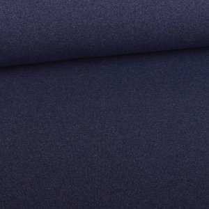 Tissu sweat d´été  French Terry Uni navy chiné vintage...