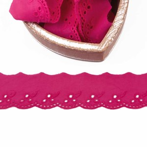 Broderie anglaise fleur pink 42mm