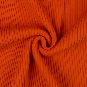 Bord côte tricot grossier Uni orange