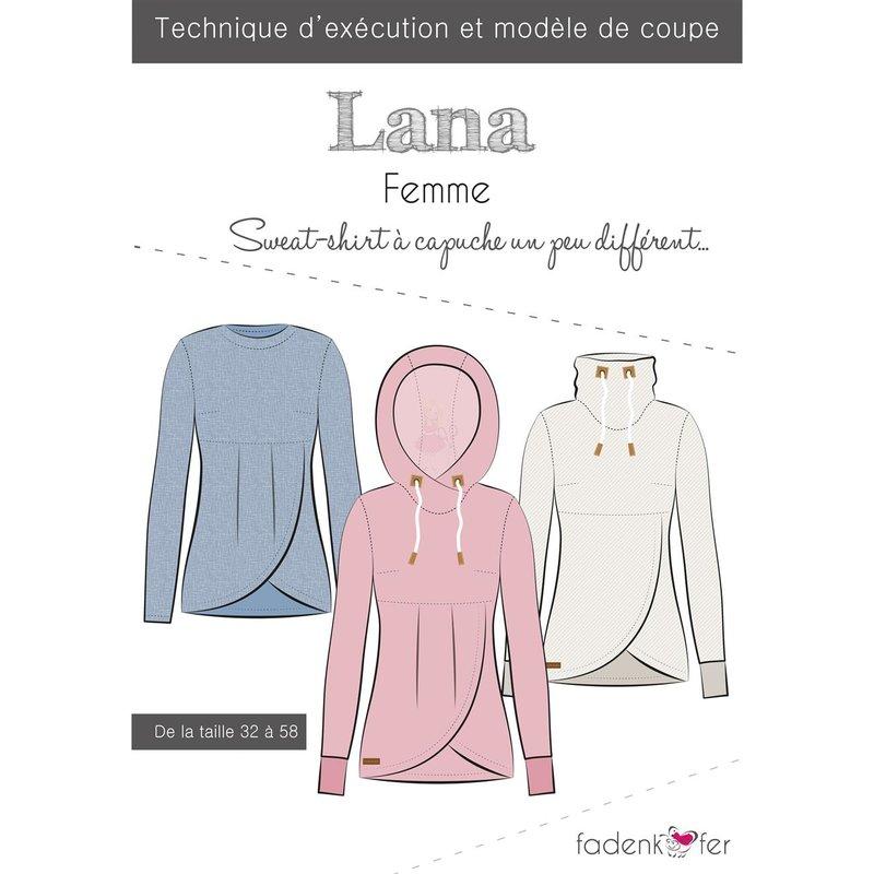 Sweat Fadenkäfer Patron Capuche Couture Lana Papier À Femme De L4Ajcq35SR