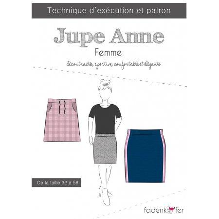 Fadenkafer Patron De Couture Papier Jupe Anne Femme