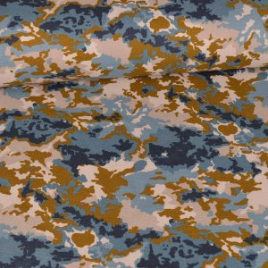 Canvas - camouflage - bleu moutarde